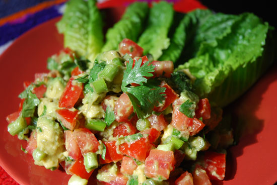This weeks Paleo Meal Plan Sneak Peek - Guacamole Salad - #HealthyHappySmart