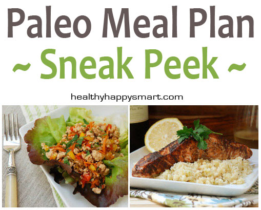 Sneak Peek at our Paleo Meal Plan