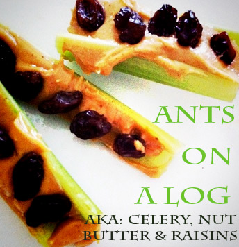 ants on a log - Healthy After School Snack Idea for kids • healthy kid snacks