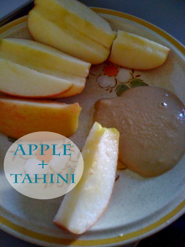 apple + tahini - The best list of healthy snacks + more