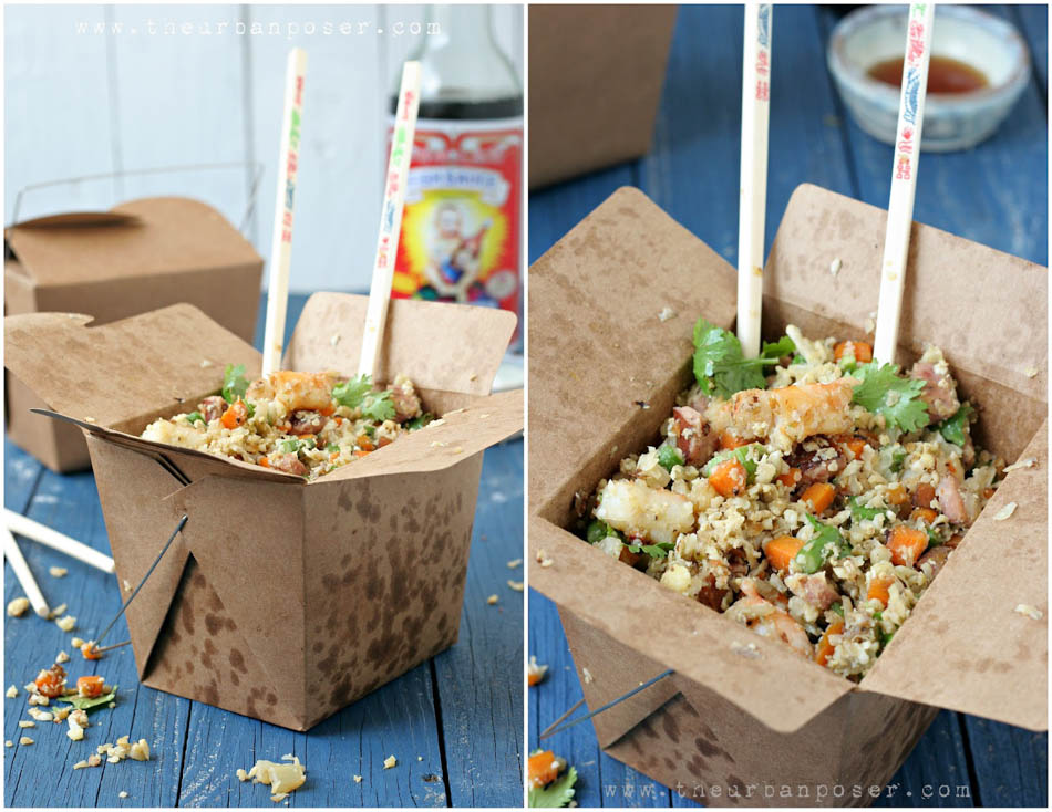 Cauli-fried Rice - #GlutenFree #LowCarb #Recipe - PLUS 13 more low carb dinner recipe ideas. #HealthyHappySmart