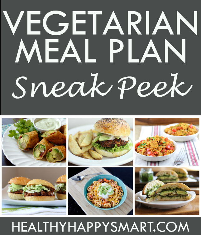 Sneak Peek at our Vegetarian Meal Plan