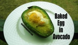 Easy Breakfast Ideas - Baked Egg in Avocado