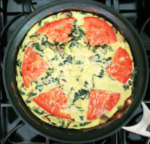 Veggie Frittata! Enjoy this recipe for breakfast, lunch or dinner!