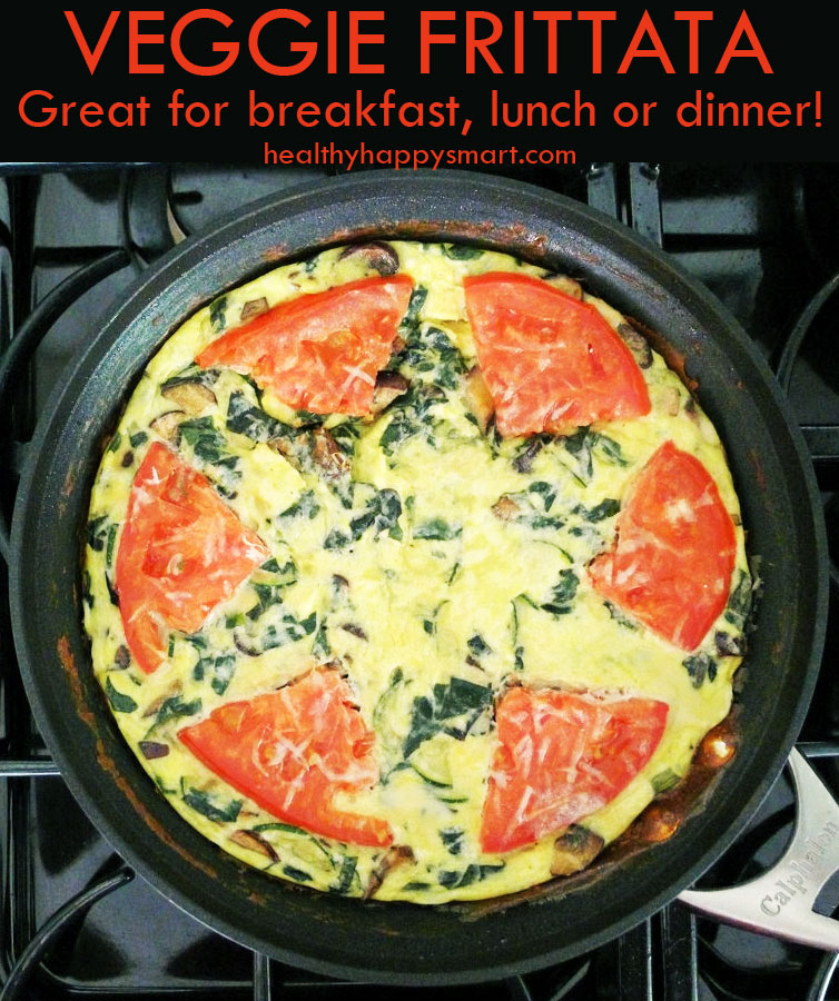 "The ""Anytime"" Frittata - enjoy for breakfast, lunch or dinner! Easy and healthy #Recipe !"