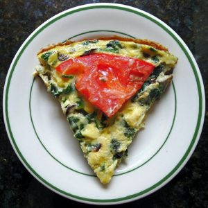 """Anytime"" Frittata Recipe - breakfast, lunch, dinner or snack."