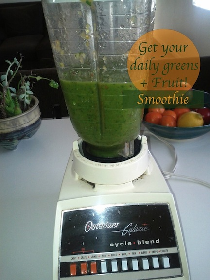 How to make a green smoothie.