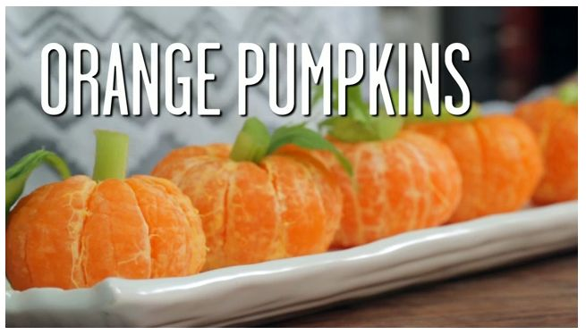 "*Good For You* Party Food & healthy snacks - orange ""Pumpkins"" are so cute! 