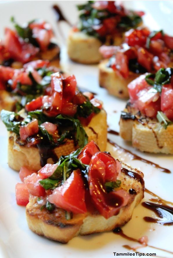 *Good For You* Party Food & healthy snacks - Bruschetta!!! | HealthyHappySmart.com