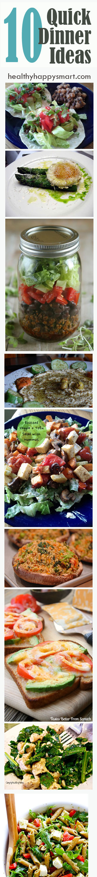 10 healthy + quick dinner ideas