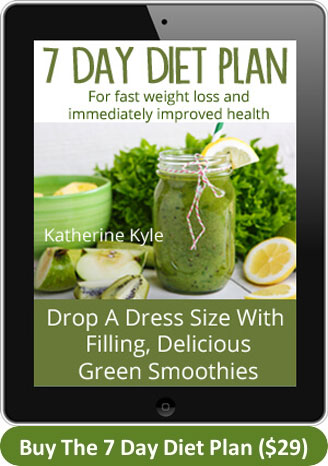 7 Day Diet Plan - green thickies/smoothies and eating clean